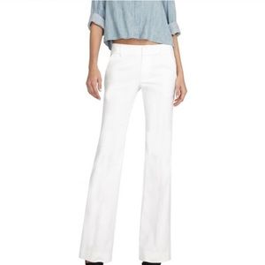 Alice + Olivia White Bootcut Slacks Business Pants